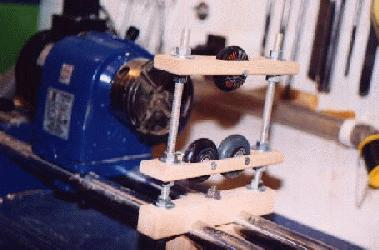 how to make a wood lathe steady rest